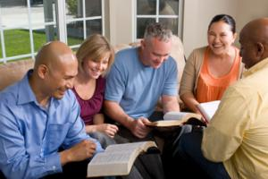 group reading the Bible